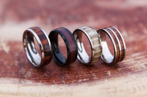 Titanium rings - Wood inserts